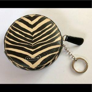 NWT COACH Zebra Coin Purse